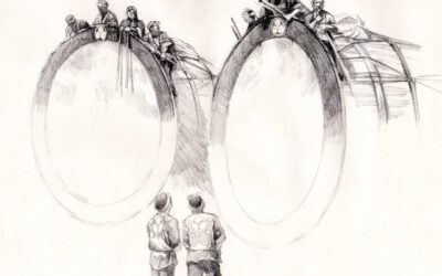 Sketch series of a matsuri